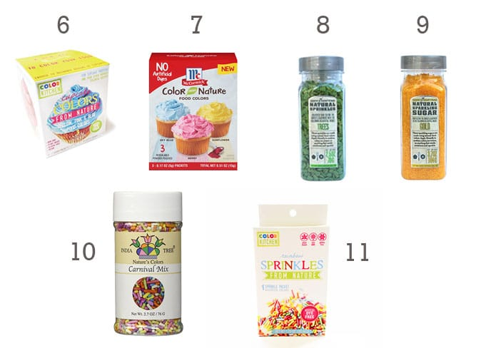 Products Without Food Dyes