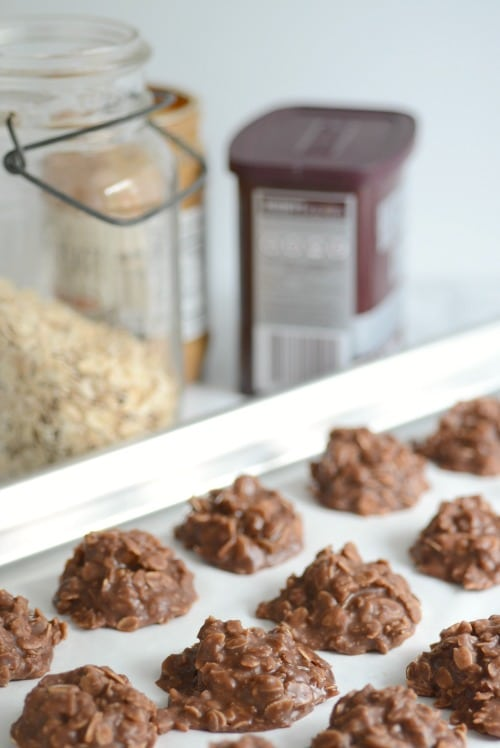 The BEST Chocolate Peanut Butter No Bake Cookie Recipe
