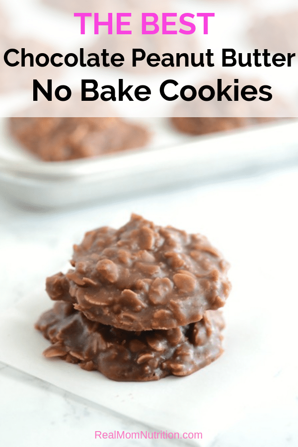 The Best Chocolate Peanut Butter No Bake Cookies