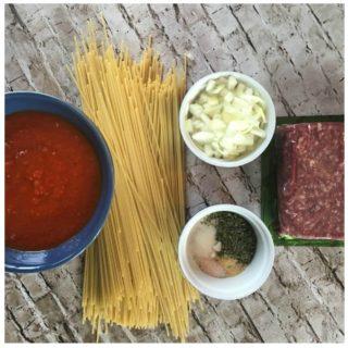 One Pot Meat Spaghetti