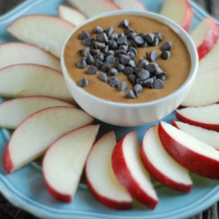 Apples with Chocolate chip Peanut Butter