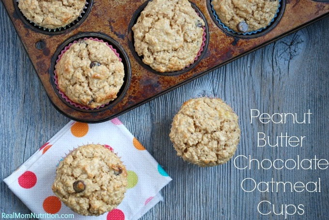 Peanut Butter Chocolate Oatmeal Cups