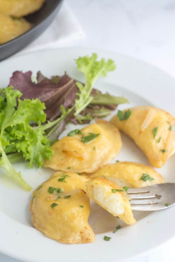 Pierogis on a plate