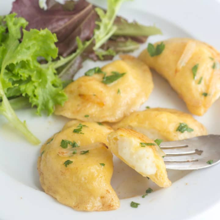 Homemade Pierogi with Potato & Cheese Filling