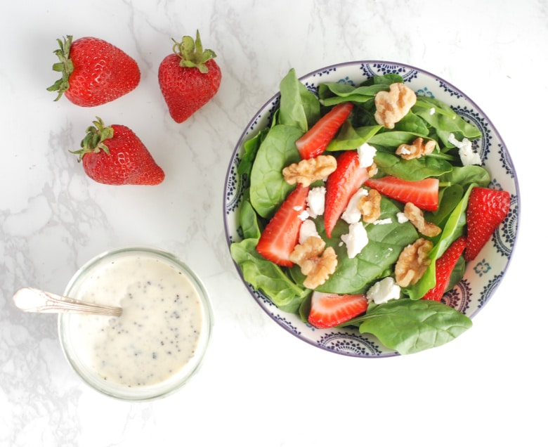Poppyseed Dressing with Spinach Strawberry Salad