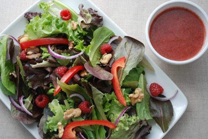 Refreshing Raspberry Salad