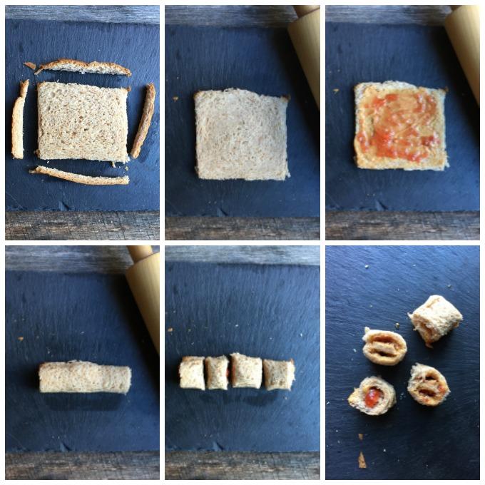 PB&J Sandwich Sushi