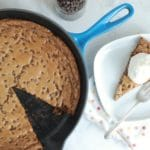 Whole Wheat Chocolate Chip Skillet Cookie