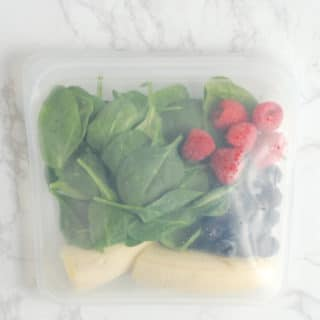 Smoothie Ingredients in a Reusable Bag