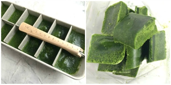 How to Freeze Spinach & Kale For Green Smoothies