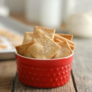 Homemade Whole Wheat Crackers made with Sprouted Wheat Flour