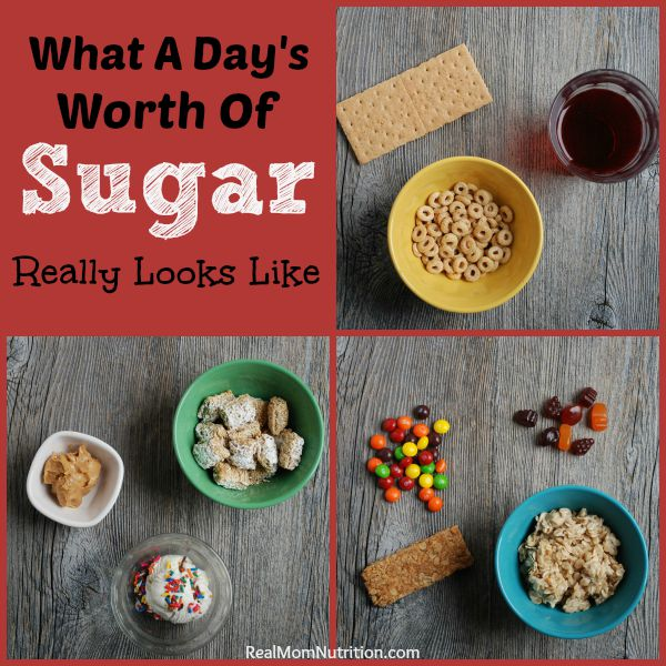 What a Day's Worth of Sugar Really Looks Like For Kids -- Real Mom Nutrition
