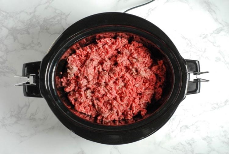 Ground beef in crock pot