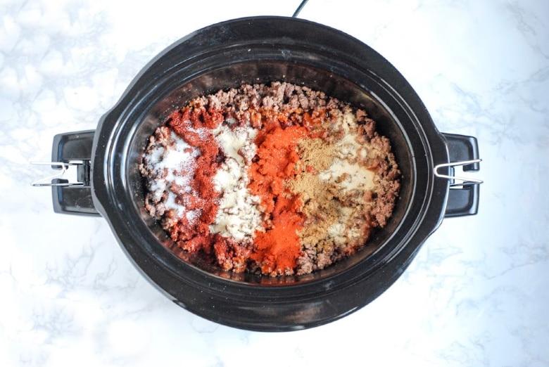 Taco meat in crock pot