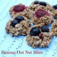 Banana Oat Nut Bites
