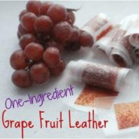 Homemade Grape Fruit Leather