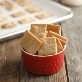 Homemade Sprouted Wheat Crackers