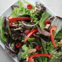 Romaine Salad With Raspberries