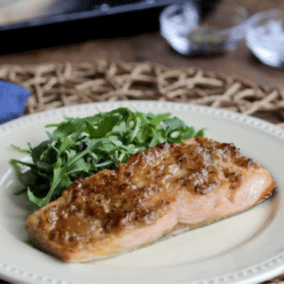 Stone-Ground Mustard and Apricot Salmon