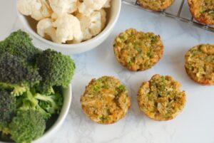 Broccoli and Cauliflower Bites