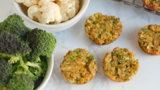 Broccoli and Cauliflower Bites