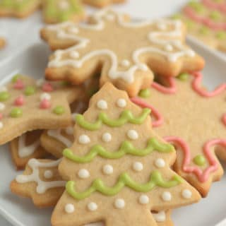 Whole Wheat Cut-Out Sugar Cookies (No Chilling Needed!)