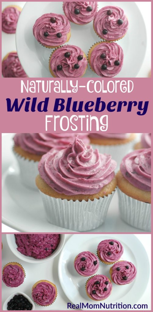 Naturally-Colored Wild Blueberry Frosting