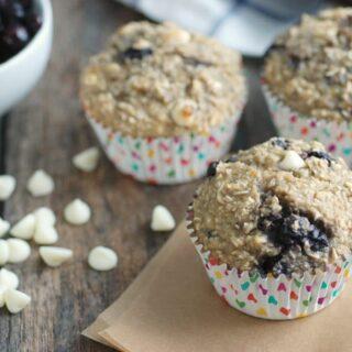 Gluten-Free Wild Blueberry & White Chocolate Oatmeal Cups
