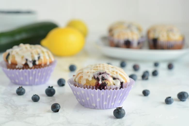 Blueberry Lemon Zucchini Muffins