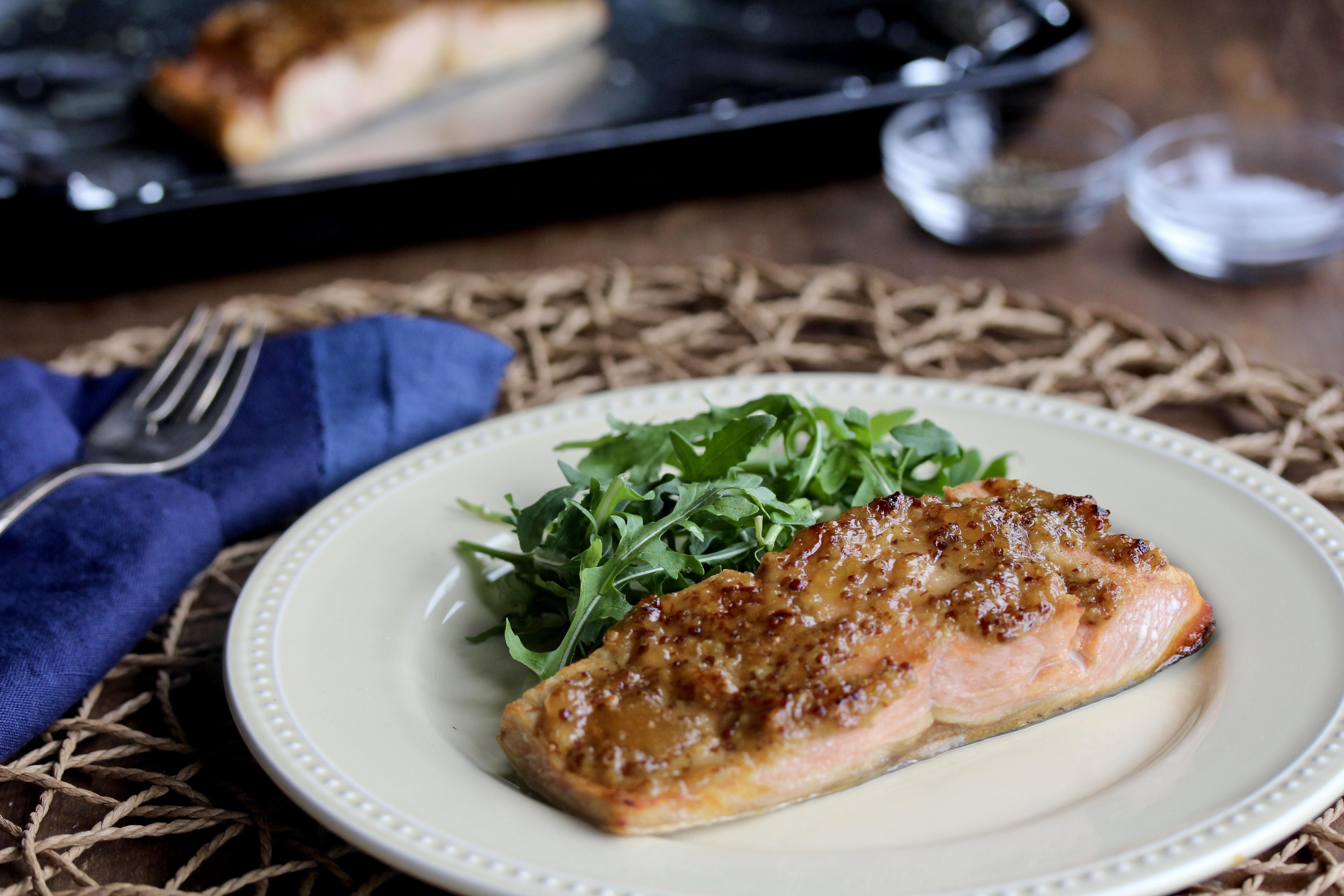 Stone-Ground Mustard and Apricot Salmon